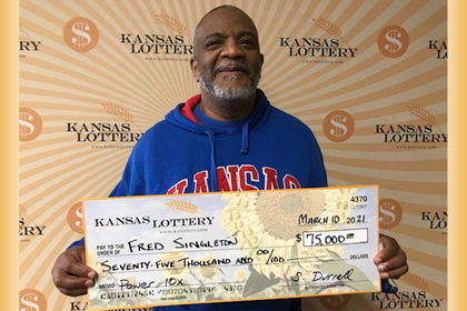 Fred Singleton's Lottery method proved fruitful with a $75,000 win!